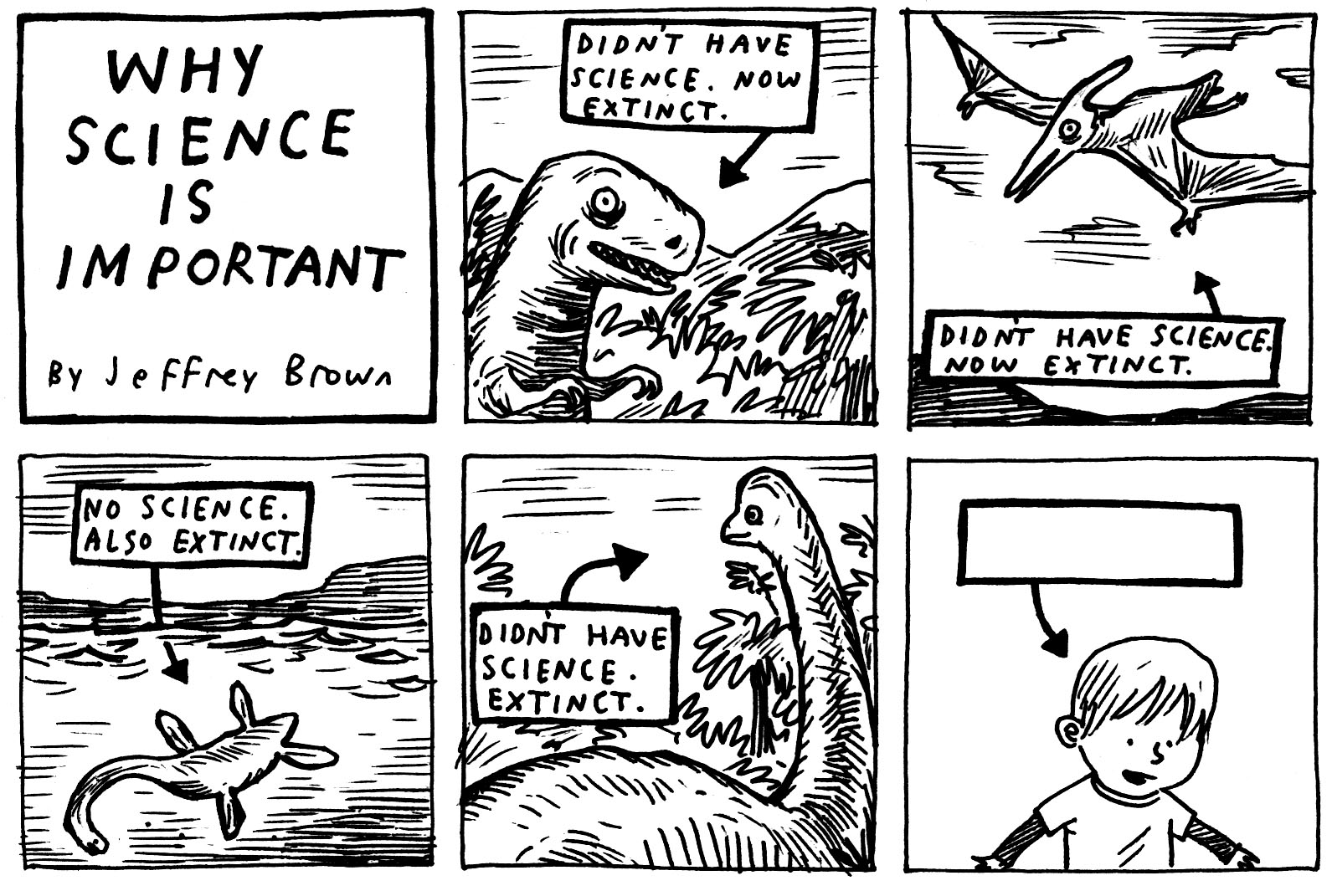Comic strip of science